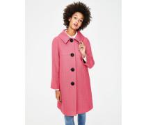 Schwungvoller Vintage-Mantel Pink Damen