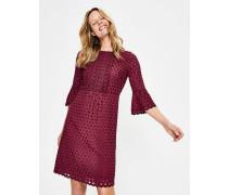 Besticktes Kleid mit Muschelsaum Purple Damen