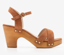 Olivia Clog-Sandalen Brown Damen
