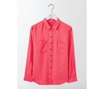 Das Leinenhemd Pink Damen
