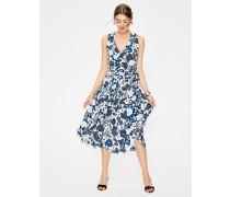 Allyson Wickelkleid aus Seide Blue Damen