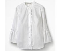 Hemd mit Glockenärmeln White Damen