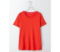 Superweiches unkompliziertes T-Shirt Red Damen