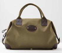 Mittelgroße klassische Chapman Reisetasche Green Herren