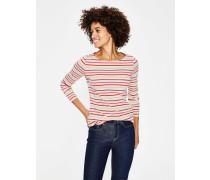 Langärmliges Bretonshirt Pink Damen