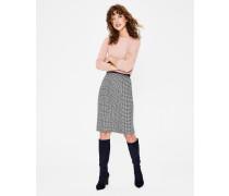Bleistiftrock aus britischem Tweed Navy Damen