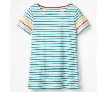 Kurzärmliges Bretonshirt Multi Damen