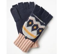 Handschuhe mit Fair-Isle-Muster Navy Damen