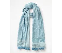 Schal mit Bommeln Blue Damen