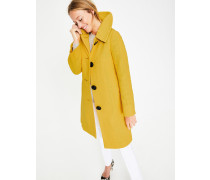 Schwungvoller Vintage-Mantel Yellow Damen