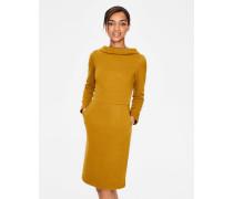 Estella Jacquard-Kleid Gold Damen
