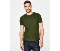 Flammgarn-Shirt mit Rundhalsausschnitt Green Herren