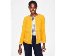 Ida Strukturierte Jacke Yellow Damen