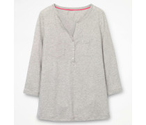 Basic-Henleyshirt Grey Damen