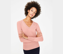 Tilda Pullover mit V-Ausschnitt Pink Damen