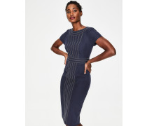Kitty Strukturiertes Kleid Navy Damen