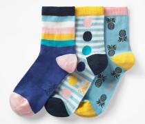 Socken im 3er-Pack Blue Damen