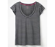 Superweiches Flatter-T-Shirt Navy Damen