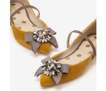 Cordelia Flache Schuhe Gold Damen