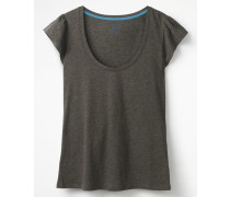 Superweiches Flatter-T-Shirt Grey Damen