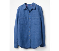 Das Leinenhemd Blue Damen