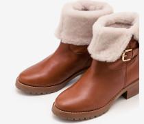 Cumbria Lammfellstiefel Brown Damen