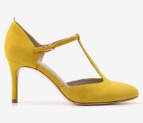 Whitney Pumps mit mittelhohem Absatz Yellow Damen
