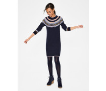 Agnes Fair-Isle-Kleid Navy Damen