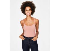 Einfarbiges Trägerhemd Pink Damen