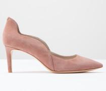 Pumps mit mittelhohem Absatz und Wellenmuster Pink Damen