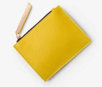 Münzbörse aus Leder Yellow Damen