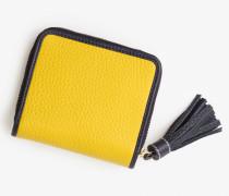 Minibörse aus Leder Yellow Damen
