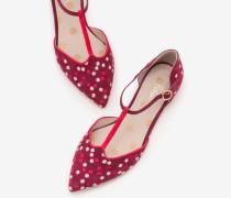 Layla Flache Schuhe mit T-Steg Purple Damen