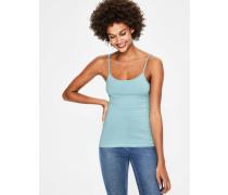 Einfarbiges Trägerhemd Blue Damen