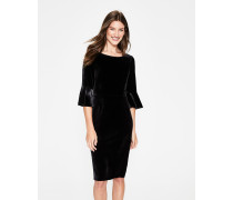 Aubrey Samtkleid Black Damen