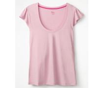 Superweiches Flatter-T-Shirt Pink Damen
