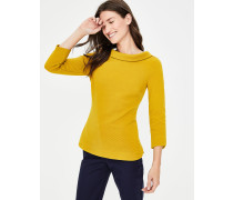 Sarah Ottoman-Shirt Yellow Damen