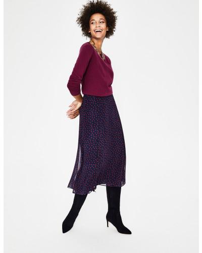 Kaschmirpullover mit Rundhalsausschnitt Purple Damen