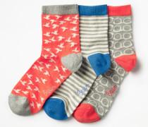 Socken im 3er-Pack Grey Damen