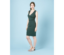 Kleid in Wickeloptik mit Raffung Green Damen