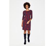 Winifred Jersey-Jacquard-Kleid Navy Damen