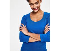 T-Shirt mit doppellagiger Vorderseite Blue Damen