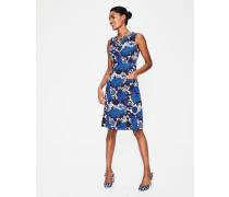 Retro-Kleid mit Taschen Blue Damen