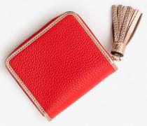 Minibörse aus Leder Red Damen