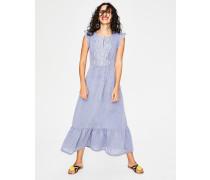Lucinda Kleid mit Lochstickerei Blue Damen