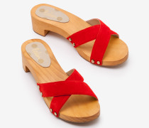 Orella Clogs Red Damen