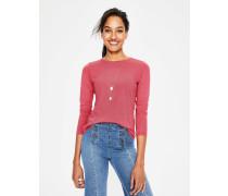 Superweiches T-Shirt mit Rundhalsausschnitt Pink Damen