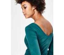 Doppellagiges Oberteil mit rückseitigem V-Ausschnitt Green Damen