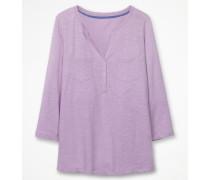 Basic-Henleyshirt Purple Damen