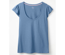 Superweiches Flatter-T-Shirt Blue Damen